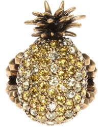 1958cb4ff Crystal Studded Butterfly Ring In Metal. $400. Gucci. Gucci - Pineapple  Charm - Lyst