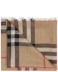 Burberry Patterned Scarf - Brown