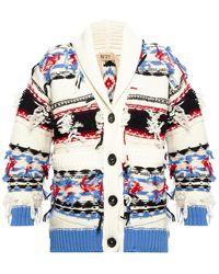 N°21 Rib-knit Cardigan Multicolour
