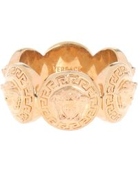 Versace - Patterned Ring - Lyst