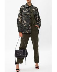 Zadig & Voltaire Branded Military Jumpsuit - Green