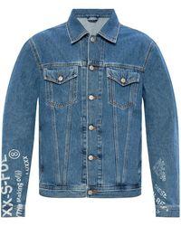 DIESEL Printed Denim Jacket - Blue