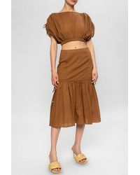 Marysia Swim Flared Skirt Brown