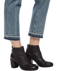 Marsèll Leather Heeled Ankle Boots Black