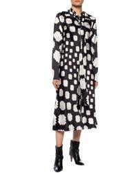 Marni Patterned Long Sleeve Dress Black