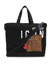 DSquared² Shopper Bag - Black