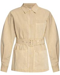 PROENZA SCHOULER WHITE LABEL Jacket With Belt - Natural