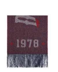DIESEL Scarf With Logo - Red