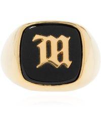 MISBHV Ring With Logo Unisex Gold - Metallic