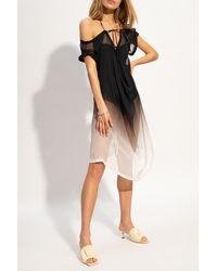 Ann Demeulemeester Transparent Dress Black