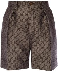 Gucci 'GG Supreme' Shorts - Brown
