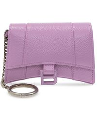 Balenciaga Pouch With Lobster Clasp - Purple