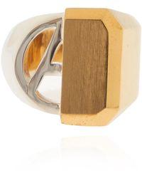 Ambush Ring With Logo - Metallic