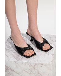 Versace Stiletto Mules - Black