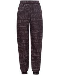 Kirin Nylon Pants With Logo - Black