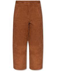 AllSaints 'leah' Culotte Trousers - Brown