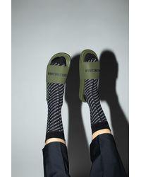 Balenciaga Slides With Logo - Green