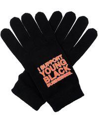 Off-White c/o Virgil Abloh Printed Gloves - Black