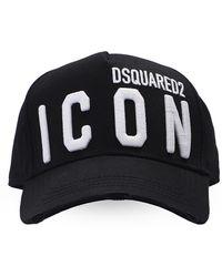 DSquared² Branded Baseball Cap Unisex Black