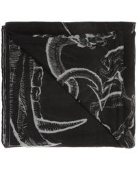Givenchy Logo-embroidered Scarf - Black