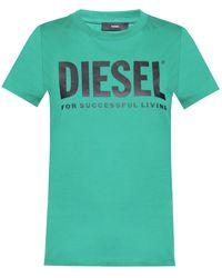DIESEL Logo T-shirt Green