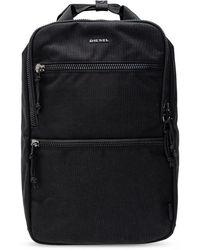 DIESEL 'ginkgo' Backpack With Logo - Black