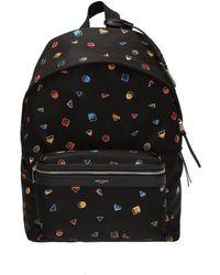 Saint Laurent 'city' Printed Backpack - Black