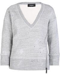 DSquared² - V-neck Sweatshirt - Lyst