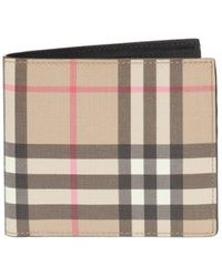 Burberry House-check Bi-fold Leather Wallet - Multicolor