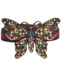Gucci - 'web' Stripe Bracelet - Lyst