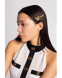 Moschino Hair Clip With Logo - Metallic