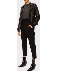 DSquared² Creased Wool Trousers - Black