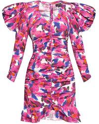 Isabel Marant Patterned Long-sleeve Dress Pink