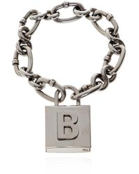 Balenciaga Chain Bracelet Silver - Metallic