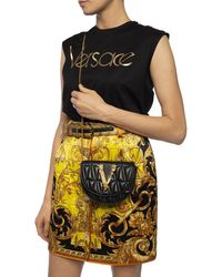 Versace 'virtus' Belt Bag Black