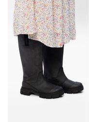 Ganni Rubber Rain Boots Black