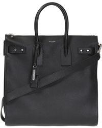 Saint Laurent - Pebble Leather Tote Bag - Lyst