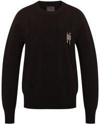 Givenchy Appliquéd Sweatshirt Black