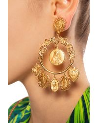 Dolce & Gabbana Earrings With Charms Gold - Metallic