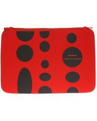 Comme des Garçons Logo Tablet Case Unisex Red
