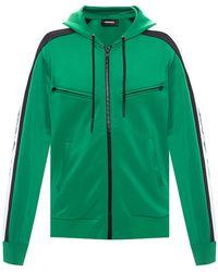 DIESEL Hoodie With Pockets - Green