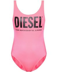 DIESEL One-piece Swimsuit With Logo Pink