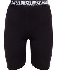 DIESEL Short Leggings Black