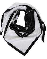 Givenchy Printed Silk Shawl - White