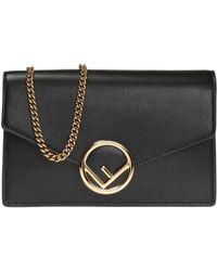 Fendi - Shoulder Bag With Metal Logo - Lyst