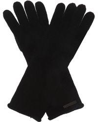AllSaints Branded Wool Gloves - Black