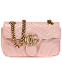 f07c9ffe3 Gucci Medium Gg Marmont 2.0 Tokyo Print Bag in Yellow - Lyst