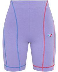 adidas Originals Short Leggings With Logo Purple