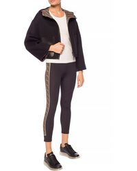 Fendi Reversible Ff Motif Hooded Jacket - Black