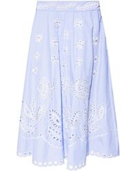 RED Valentino Double-layered Skirt - Blue